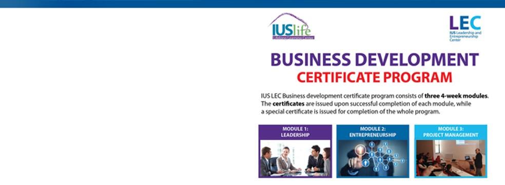 business development certificate program | ius life